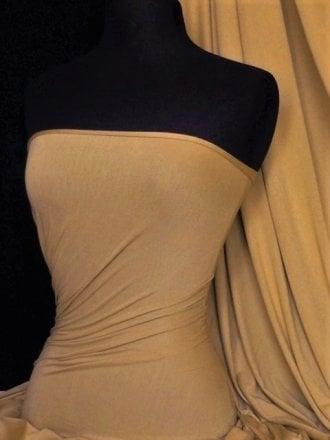 Viscose Cotton Stretch Lycra Fabric- Camel Q300 CML