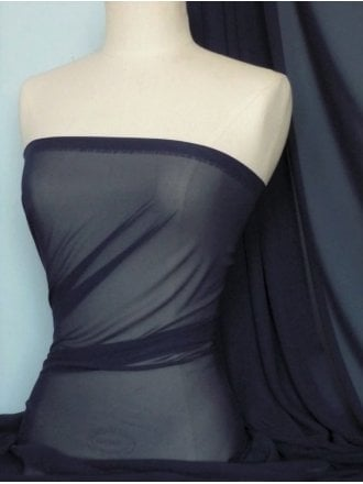 Chiffon Soft Touch Sheer Fabric Material- Dark Navy Q354 DKNY