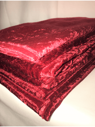 9 PIECES (1/2 Metre) Clearance Crushed Velvet/Velour Stretch Material Job Lot Bundle- Red JBL205 RD
