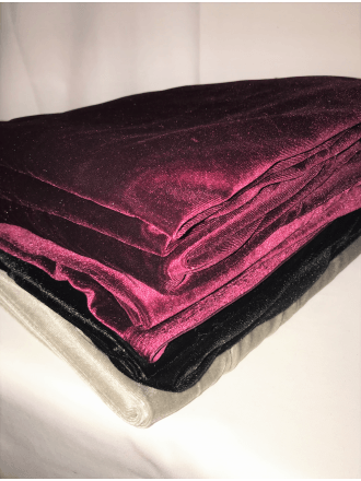 7 PIECES Clearance (50-80cm) Velvet/ Velour 4 Way Stretch Spandex Lycra Job Lot Bundle- Multi JBL213