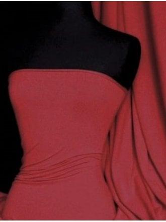 20 METRES Supplex Sports 4 Way Stretch Lycra Fabric Wholesale Roll- Deep Red JBL240 DPRD