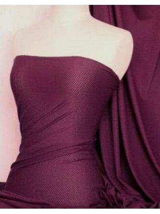 20 METRES Airtex Mesh Super Stretch Fabric Job Lot Bolt- Grape JBL241 GRP