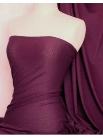 20 METRES Airtex Mesh Super Stretch Fabric Wholesale Roll- Grape JBL241 GRP