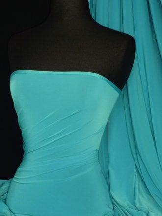 Silk Touch 4 Way Stretch Lycra Fabric- Cyan Blue Q53 CBL