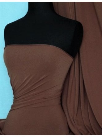 Micro Lycra 4 Way Stretch Fabric- Brown Q259 BR