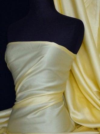 20 METRES Cotton Poplin Sheen Shirt  Fabric Wholesale Roll- Lemon JBL282 LMN