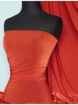 Diabolo Shiny Lycra 4 Way Stretch Fabric- Red Q262 RD