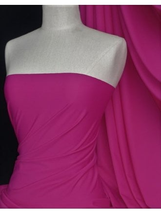 Matt Lycra 4 Way Stretch Fabric- Fuchsia Pink Q56 FCHPN