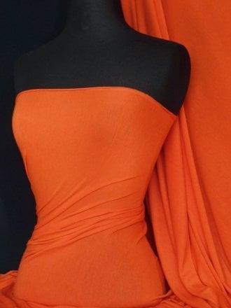 Viscose Cotton Stretch Lycra Fabric- Orange Q300 OR