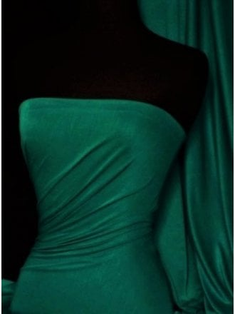 Viscose Cotton Stretch Lycra Fabric- Bottle Green Q300 BTGR