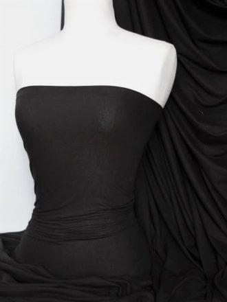 Single Jersey Knit 100% Light Cotton T-Shirt Fabric- Black Q1249 BK