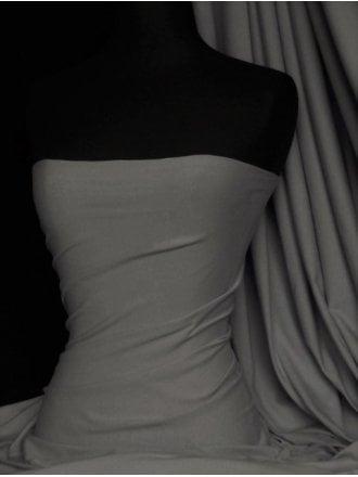 20 METRES Cotton Lycra Jersey Light Weight 4 Way Stretch Fabric Job Lot Bolt- Storm Grey JBL313 STMGR