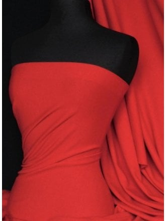 20 METRES Morgan Crepe 4 Way Stretch Viscose Lycra Jersey Material Wholesale Roll- Red JBL315 RD