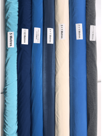 7 ROLLS (32 1/2 Metres) Diabolo Shiny Lycra 4 Way Stretch Fabric Wholesale- Mixed Colours JBL327