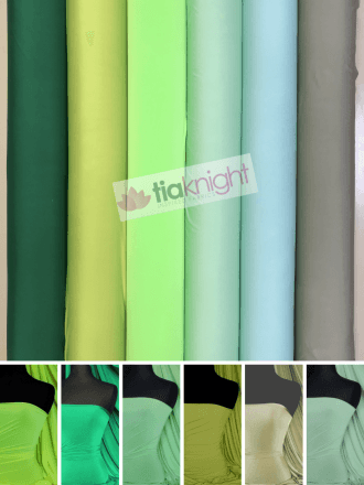 25 METRES Silk Touch 4 Way Stretch Lycra Fabric Wholesale Roll- Green Shades JBL333