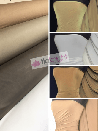 25 METRES Silk Touch 4 Way Stretch Lycra Fabric Wholesale Roll- Brown Shades JBL333
