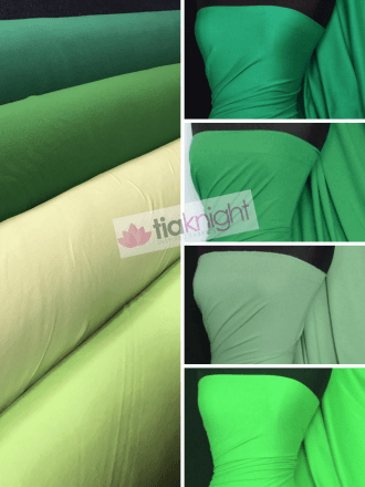 25 METRES 100% Cotton Interlock Knit Soft Jersey T-Shirt Fabric Wholesale Roll- Green Shades JBL334