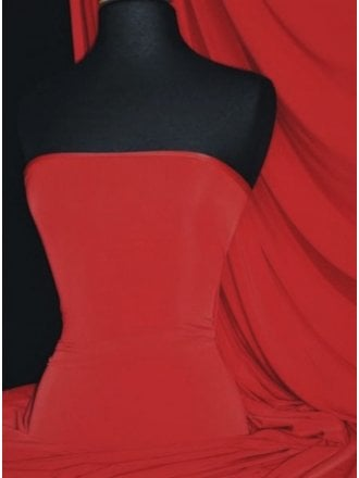 Silk Touch 4 Way Stretch Lycra Fabric- Red Q53 RD
