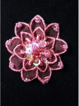 Sequin Flower Embellishment- Cerise Pink EM142 CPN