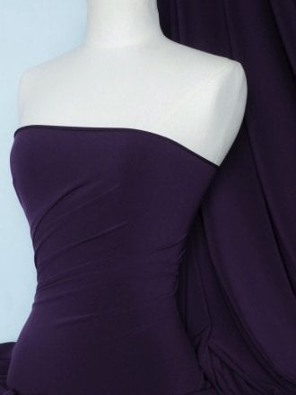 Soft Touch 4 Way Stretch Lycra Fabric- Dark Aubergine Q36 DAUB