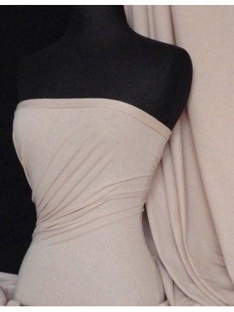 Single Jersey Knit 100% Light Cotton T-Shirt Fabric- Stone Q1249 STN