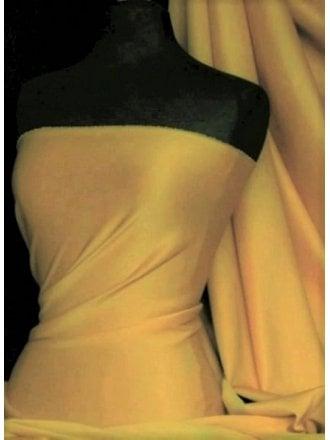 Scuba Stretch Poly Lycra Fabric- Mustard Q792 MST