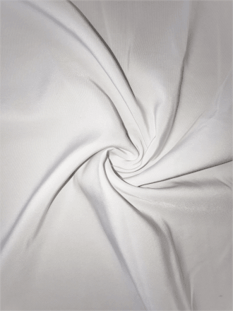 100% Polyester Non-Stretch Lining Fabric- White SQ393 WHT