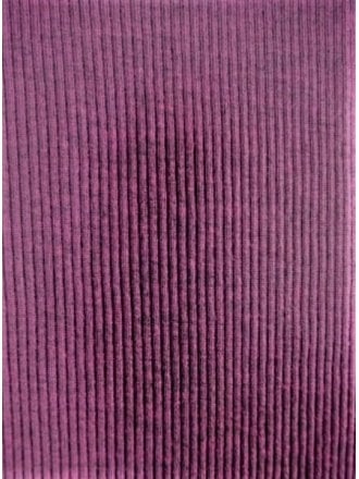 Cotton Poly Rib 2 x 2 Stretch Jersey Fabric- Blackcurrant SQ76 BCR