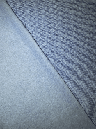 Sweatshirt Fleece Backed Super Soft Fabric (Tubular Width)- Baby Blue SQ400 BBL