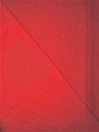 Sweatshirt Fleece Backed Super Soft Fabric (Tubular Width)- Red SQ400 RD