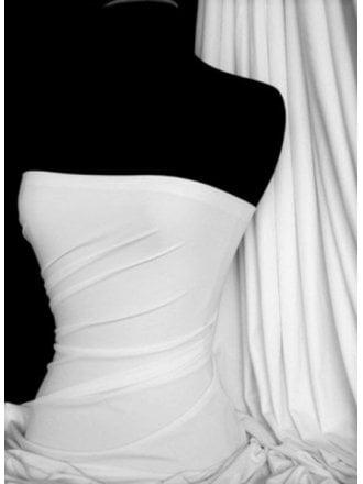 28 PIECES Clearance Matt Lycra 4 Way Stretch Fabric Job Lot Bolt- White JBL350 WHT