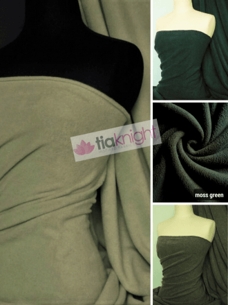 10-20 METRES Super Soft Polar Fleece Anti Pill Washable Fabric Wholesale- Green Shades JBL351