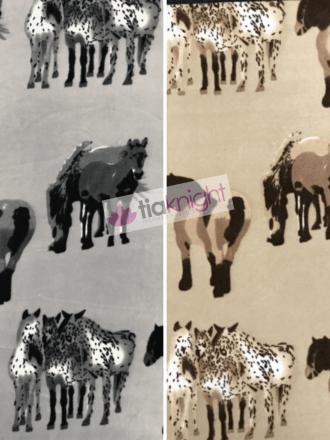 10 METRES Polar Fleece Anti Pill Washable Fabric Wholesale- Horses Print JBL357