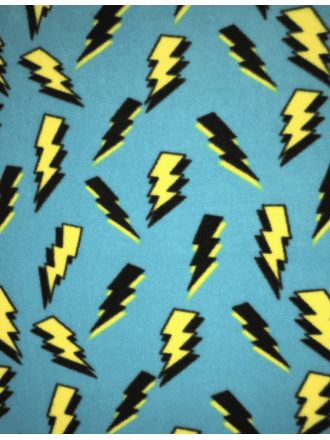 Polar Fleece Anti Pill Washable Soft Fabric- Lightning Bolts SQ410 TQS