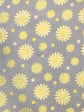 Polar Fleece Anti Pill Washable Soft Fabric- Daisies SQ447 PBLYL