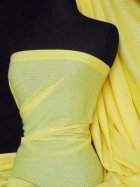 "Poly Cotton Material- Yellow 1/8"" Check Gingham Q563 YL"