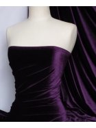 Velvet /Velour 4 Way Stretch Spandex Lycra- Purple Q559 PPL