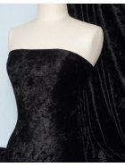 Marble Texture Velvet Lycra 4 Way Stretch Fabric- Jet Black Q172 BK