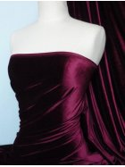 Velvet/Velour 4 Way Stretch Spandex Lycra- Claret Q559 CLT