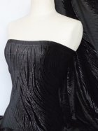 Black Wave Shimmer Velvet Spandex Fabric