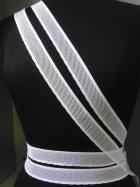White Elastic Lycra Net Trim