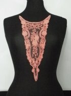 Coral Pink Plunging Neck Piece