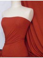 Viscose Cotton Stretch Lycra Fabric- Rust Q300 RST