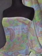 Chiffon Shimmer Sheer Fabric -Tanya Paisley Q606 MLT