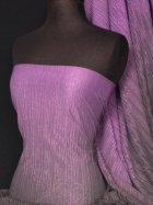 Chiffon Shimmer Pleated Two Tone Sheer Material- Purple Q555 PPL