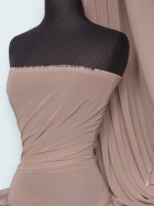 Chiffon Soft Touch Sheer Fabric Material- Mocha Q354 MCH