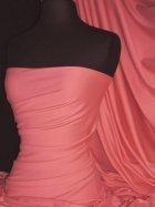 100% Cotton Interlock Knit Soft Jersey T-Shirt Fabric- Coral Q60 CRL
