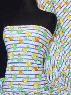 100% Cotton Interlock Knit Soft Jersey T-Shirt Fabric- Childrens Alphabet Q752 MLT
