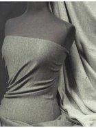 Sweatshirt Fleece Backed Super Soft Fabric (Tubular Width)- Charcoal Q842 CHR