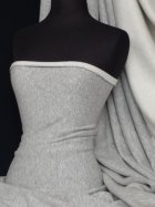 Sweatshirt Fleece Backed Super Soft Fabric (Open Width)- Light Grey Q842 LTGR